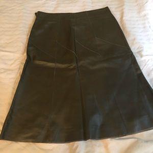 Sigrid Olsen leather skirt